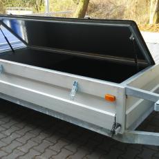 Veslařský přívěs RHC 1500 - brzděný, dvounápravový - box